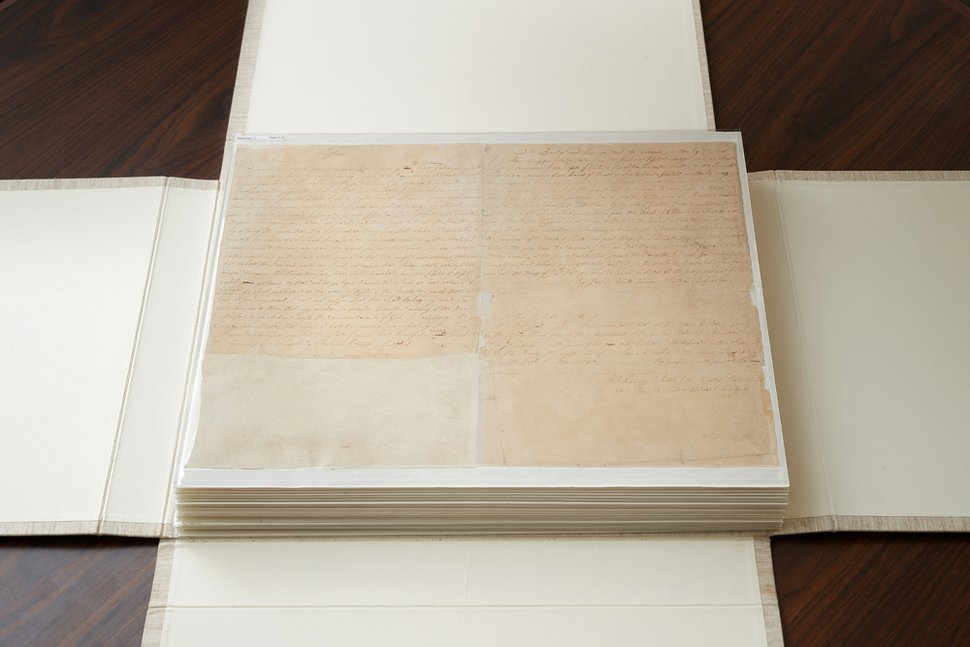 (Courtesy The Church of Jesus Christ of Latter-day Saints) | The printer's manuscript of the Book of Mormon was sold to The Church of Jesus Christ of Latter-day Saints for $35 million.