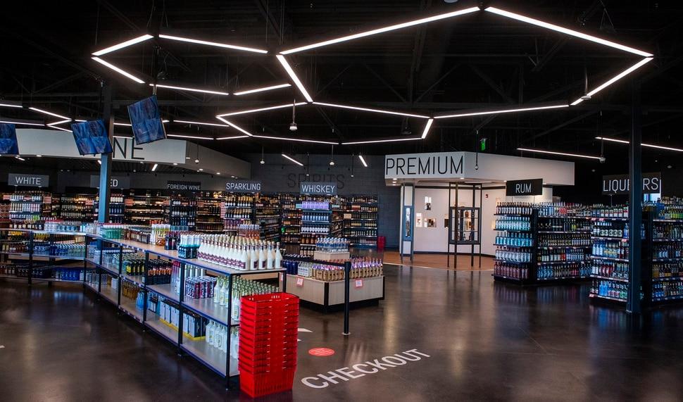 (Rick Egan | The Salt Lake Tribune) The new state liquor and wine store in Saratoga Springs, on Monday, Nov. 16, 2020.