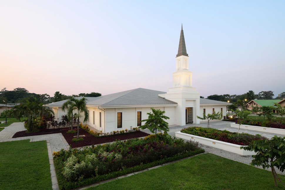 (Photo courtesy of The Church of Jesus Christ of Latter-day Saints) The Kinshasa Democratic Republic of Congo Temple.