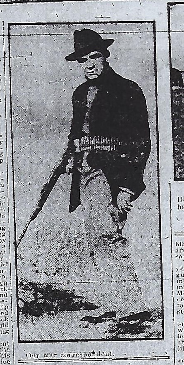 Unidentified Salt Lake Telegram reporter out on a manhunt.