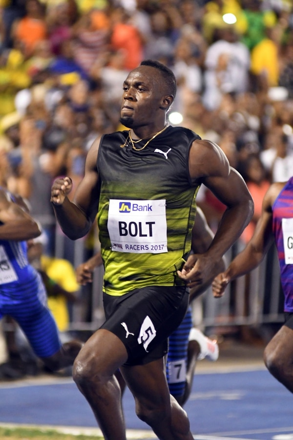 Jamaica's Usain Bolt competes in the