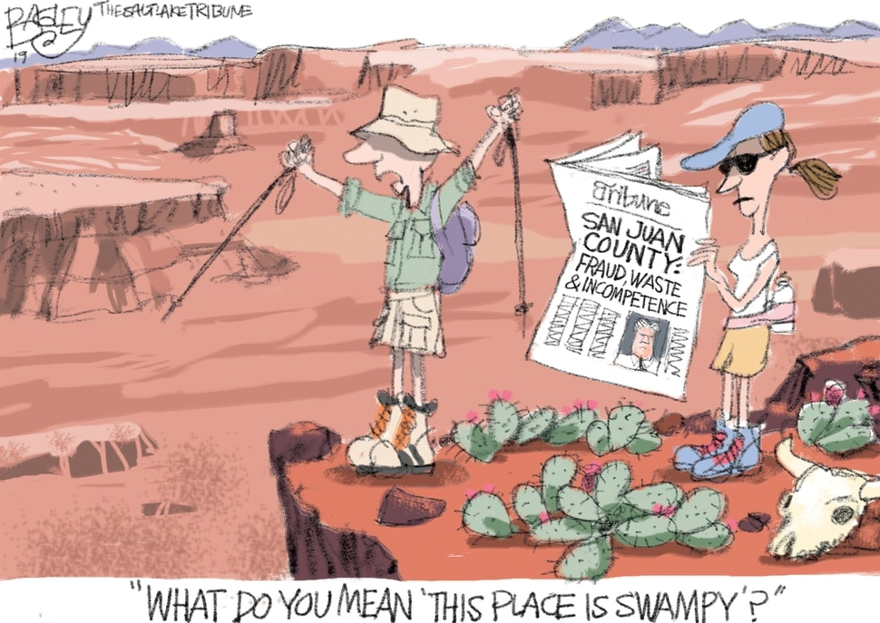 (Pat Bagley | The Salt Lake Tribune) This Pat Bagley cartoon, titled Not All Swamps Are in D.C., appears in The Salt Lake Tribune on Tuesday, July 30, 2019.