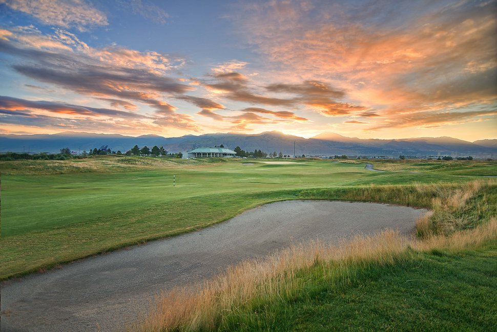 The 9th hole at Salt Lake City's Wingpointe golf course in its prime in 2011.