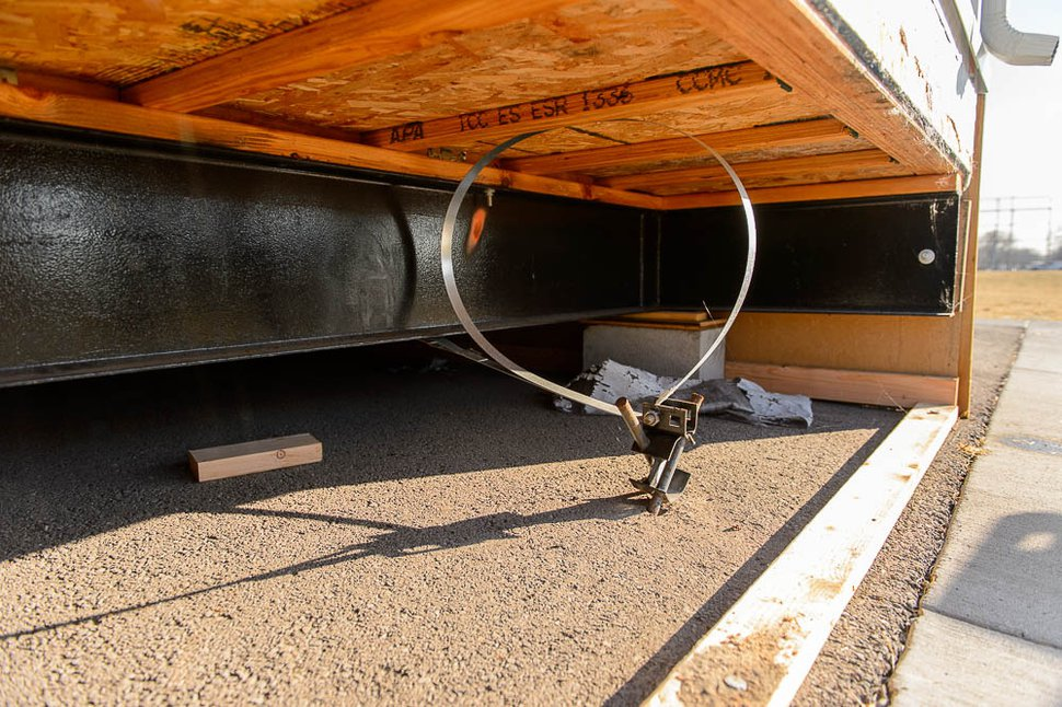 (Trent Nelson   The Salt Lake Tribune) The footing under a portable classroom at Stansbury Elementary in West Valley City, Friday December 8, 2017.