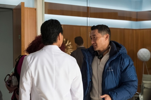 "(Photo courtesy of Jeff Weddell/ABC) Executive producer Daniel Dae Kim on the set of ""The Good Doctor."""