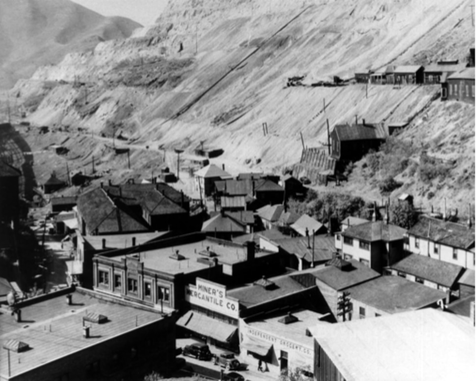 (Photo courtesy of Doug Young / Olympia Hills) Historic photo of Lark, a small mining town once located on the site of the Olympia Hills, a 931-acre, high-density development proposed west of Herriman in southwest Salt Lake County. Developers say Olympia Hills will be akin to the historic company town, only for high-technology companies like Facebook and Google, whose employees will live, work, shop and play all in the same community.