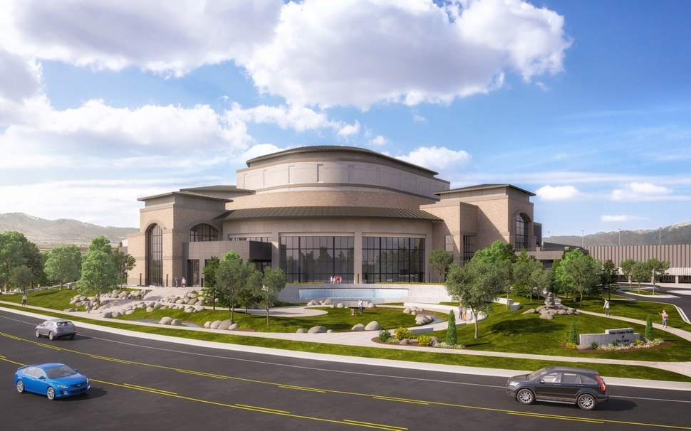 (Courtesy of Hale Centre Theatre) Artist rendering of the Hale Centre Theatre.