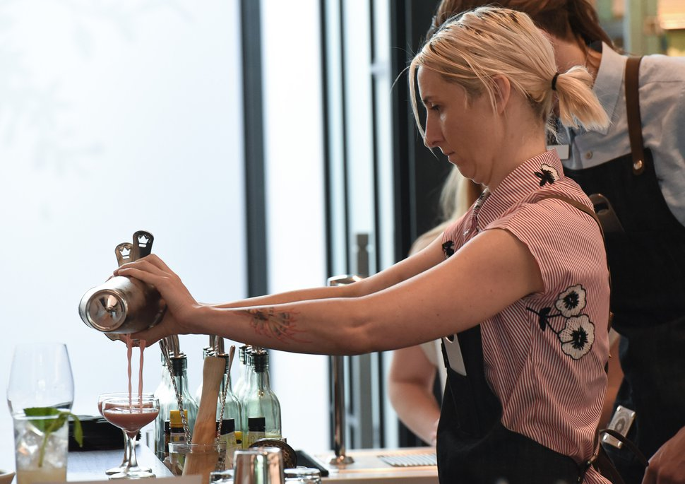 (Francisco Kjolseth | The Salt Lake Tribune) Bartender Crystal Daniels prepares drinks at the Post Office Place, a new bar by the same owners as Takashi next door, on Tuesday, June 19, 2018.