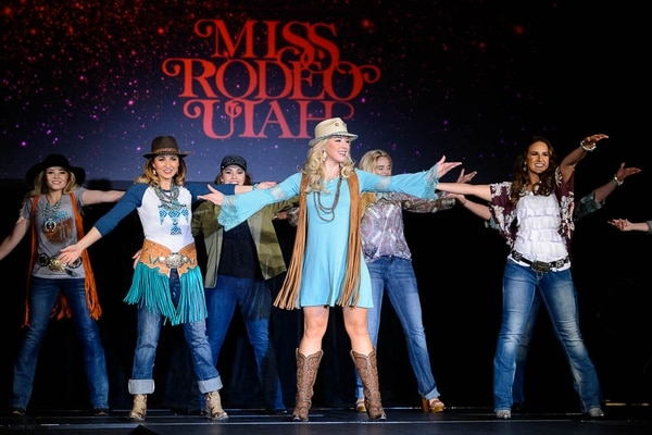 (Trent Nelson | The Salt Lake Tribune) The fashion show of the Miss Utah Rodeo pageant at the Ogden Eccles Conference Center, Monday July 23, 2018.