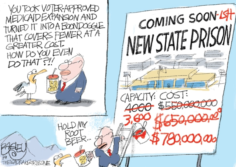 (Pat Bagley | The Salt Lake Tribune) This cartoon, titled A Real Talent, appears in The Salt Lake Tribune on Tuesday, Sept. 17, 2019.