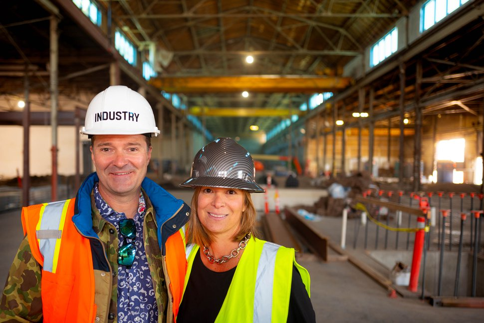 (Trent Nelson | The Salt Lake Tribune) Industry co-founders Jason and Ellen Winkler at a foundry they are renovating in Salt Lake City's Granary District on Thursday Oct. 31, 2019.