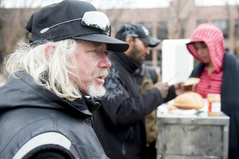 (Jeremy Harmon | The Salt Lake Tribune) Tom Kalaher, who is homeless, says he feels safer on the streets than in the shelters as concerns about a coronavirus outbreak deepen on Friday, March 13, 2020.