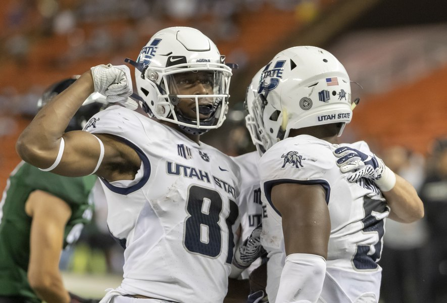 Utah State scalds Nevada 36-10, starting with Savon Scarver's fifth kickoff return for a touchdown