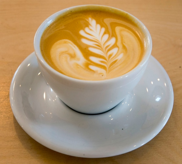 Rick Egan | The Salt Lake Tribune Vanilla Latte at the Publik Kitchen, a breakfast/lunch spot in SLC's 9th and 9th neighborhood. Friday, May 27, 2016.