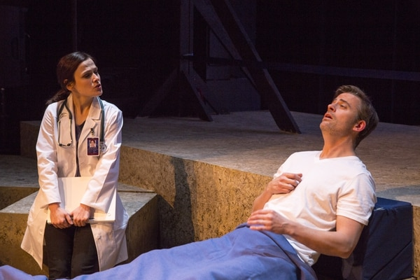 (Courtesy photograph by Rick Pollock) Actors Nicki Nixon and Matthew Sincell in the debut production of Austin Archer's play
