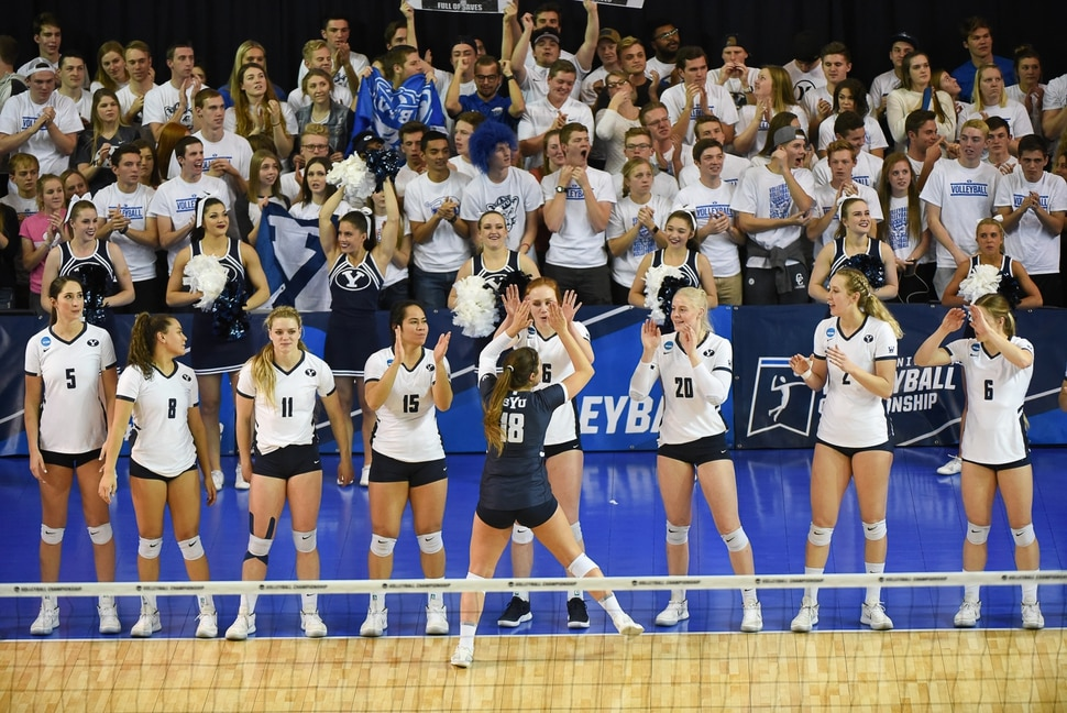 (Francisco Kjolseth | The Salt Lake Tribune) BYU meets Florida in their NCAA Tournament Round of 16 match at Smith Fieldhouse, Friday, Dec. 7, 2018.
