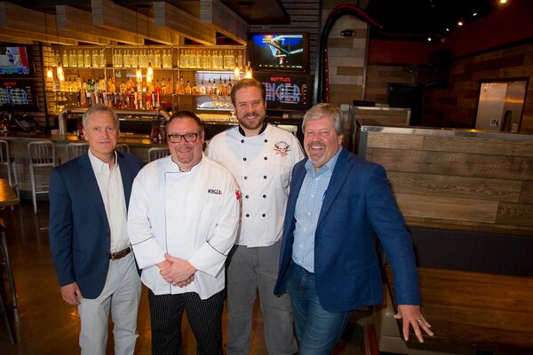 (Trent Nelson | The Salt Lake Tribune) Eric Slaymaker, from left, chefs Brandon Howard and Shawn Bucher, and Scott Slaymaker are pictured at the Wingers in Murray.