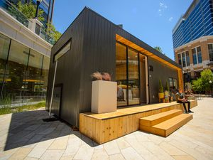 (Trent Nelson  |  Tribune file photo)  An accessory dwelling unit, or ADU, made by Salt Lake City firm Modal Living, as seen on display at City Creek Center on Monday June 24, 2019. Salt Lake City Mayor Erin Mendenhall has launched a competition seeking new designs for tiny homes and accessory dwelling units in hopes of easing an ongoing affordable housing shortage in Utah's capital.