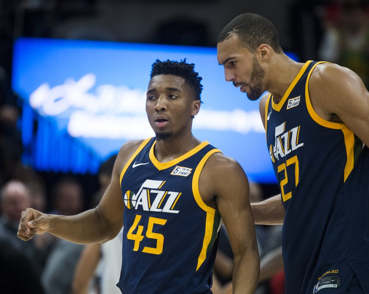 Image result for donovan mitchell rudy gobert