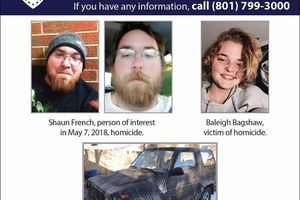 (Courtesy Salt Lake City Police Department)  Shaun French, 24, has been named a person of interest in the Monday, May 6, 2018, homicide of 15-year-old Baleigh Bagshaw at her Salt Lake City home. French may be driving a 1991 Daihatsu Rocky with a Wyoming license plate of 19-13974 (the picture above is the actual vehicle.)