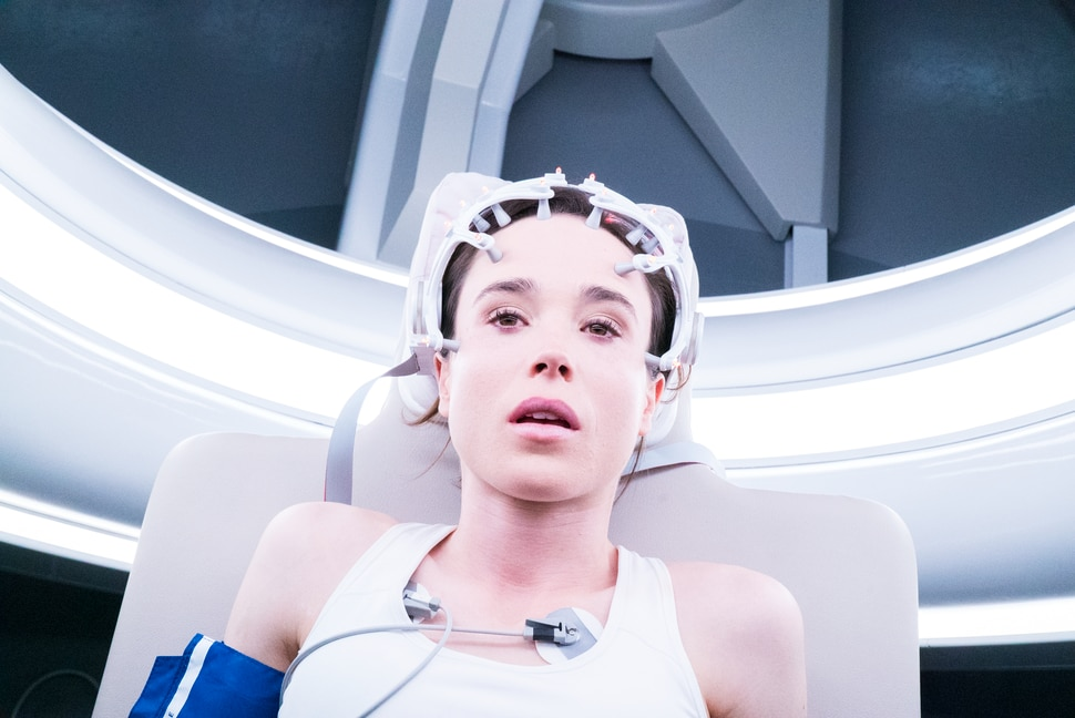 (Michael Gibson | Columbia Pictures) Ellen Page plays Courtney, one of a group of medical students who get their kicks stopping their hearts, in the thriller Flatliners, a remake of the 1990 movie.