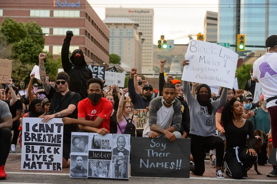 (Trent Nelson | The Salt Lake Tribune) Protesters rally against police brutality at the State Capitol in Salt Lake City on Thursday, June 4, 2020.