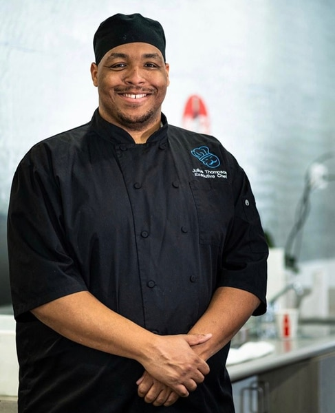 (Photo courtesy of Sauce Boss Southern Kitchen) Chef and owner Julius Thompson serves soul food favorites at his restaurant, Sauce Boss Southern Kitchen, in Draper.