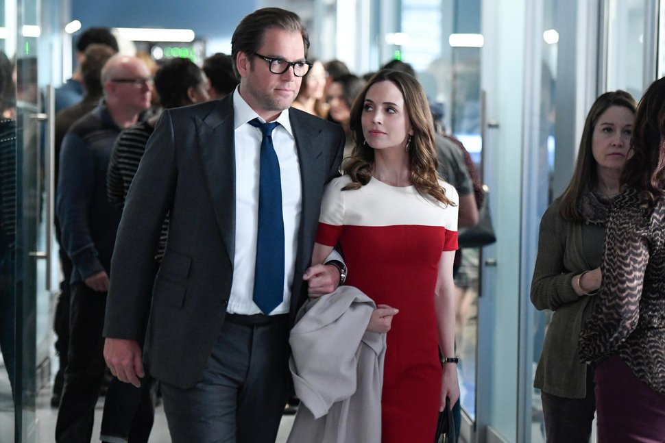 (Photo courtesy Dave Russell/CBS) Michael Weatherly and Eliza Dushku in an episode of