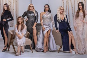 """(Photo courtesy of Chad Kirkland/Bravo) Lisa Barlow, Mary Cosby, Heather Gay, Jen Shah, Whitney Rose and Meredith Marks are """"The Real Housewives of Salt Lake City."""""""