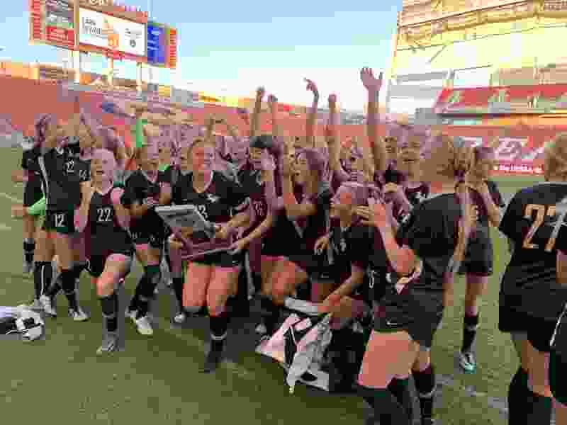 Lone Peak notches first-ever 6A state title in 1-0 win over Layton