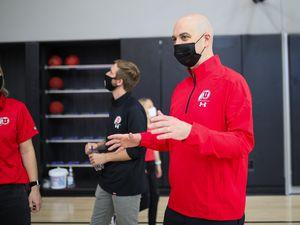 New University of Utah men's basketball coach Craig Smith tours the Huntsman Basketball Facility on March 27, 2021