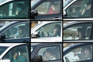 (Francisco Kjolseth  |  Tribune file photos)  This compilation of file photos shows people holding cellphones while driving in the Salt Lake Valley in early 2019. Lawmakers on Tuesday again killed a bill that would more clearly outlaw the use of hand-held cellphones while driving.