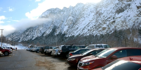 Al Hartmann | The Salt Lake Tribune Park and Ride lot at the mouth of Little Cottonwood Canyon was nearly full Friday, Feb. 5, after an overnight storm dropped some snow at the resorts. Phase 2 of the Mountain Accord process is being launched. Its emphasis will be to deal with existing traffic problems in the two Cottonwood canyons.