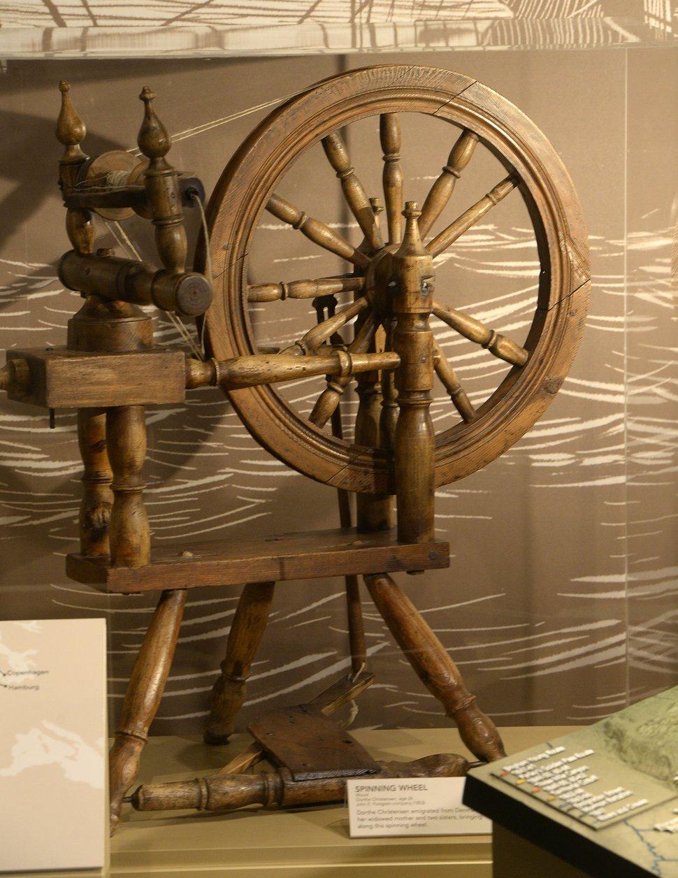 Al Hartmann   The Salt Lake Tribune Spinning wheel of Dorthe Christensen, brought from Denmark to Utah in 1853. It's one of many historical items in