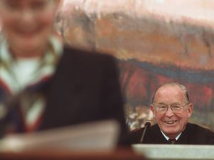 (Leah Hogsten   Salt Lake Tribune file photo) Chief Justice Richard C. Howe prior to being sworn in at the Utah Supreme Court, April 13, 1998. Howe, who served 22 years on the court, including four as chief justice, died Saturday, June 19, 2021, at age 97.