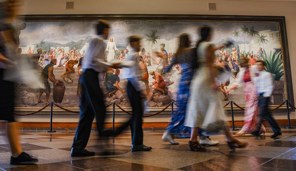 (Francisco Kjolseth | The Salt Lake Tribune) People walk by