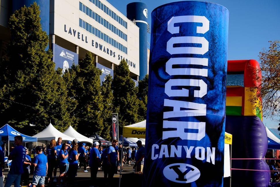 With 'Cougar Canyon,' BYU ups its tailgating game - The Salt