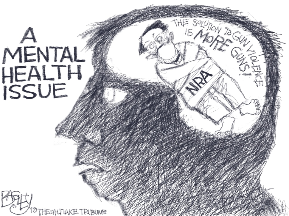 "This Pat Bagley cartoon, titled ""Crazy Talk"" appears in The Salt Lake Tribune on Friday, Feb. 16, 2018."