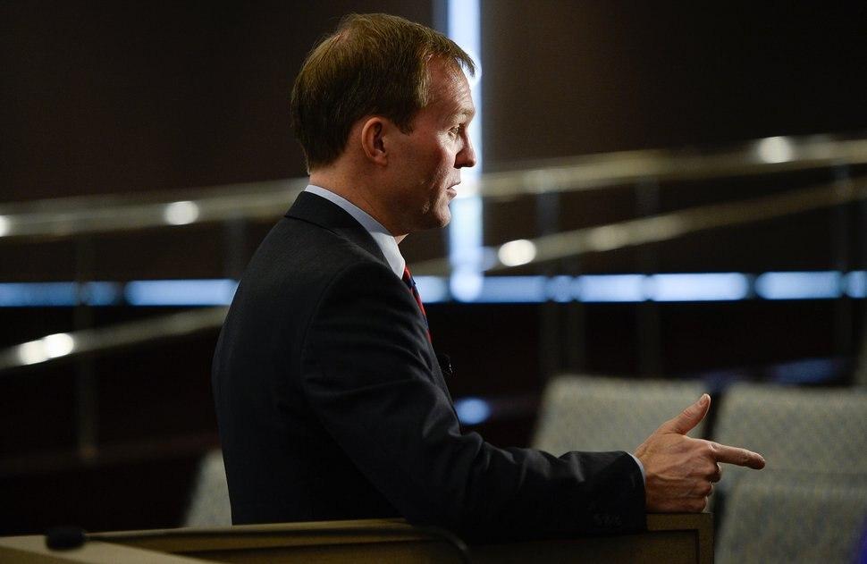 (Francisco Kjolseth | Tribune file photo) Salt Lake County Mayor Ben McAdams speaks with the media after delivering his annual