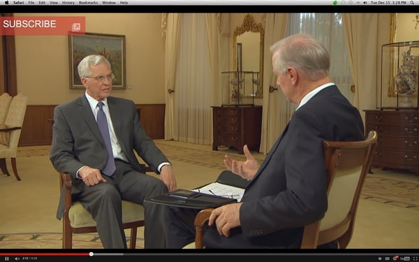 | LDS Newsroom Elder D. Todd Christofferson of the Quorum of the Twelve Apostles of The Church of Jesus Christ explains handbook changes in an interview with Michael Otterson, Managing Director, Church Public Affairs.