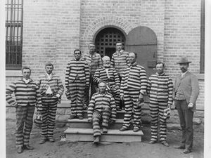 (Tribune file photo) Polygamists while incarcerated at the territorial prison in Salt Lake City.
