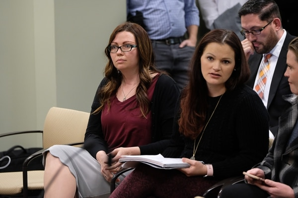 Francisco Kjolseth | The Salt Lake Tribune Luanne Cooper, left, a former member of the Polygamist Kingston clan and Jessica Christensen of the show