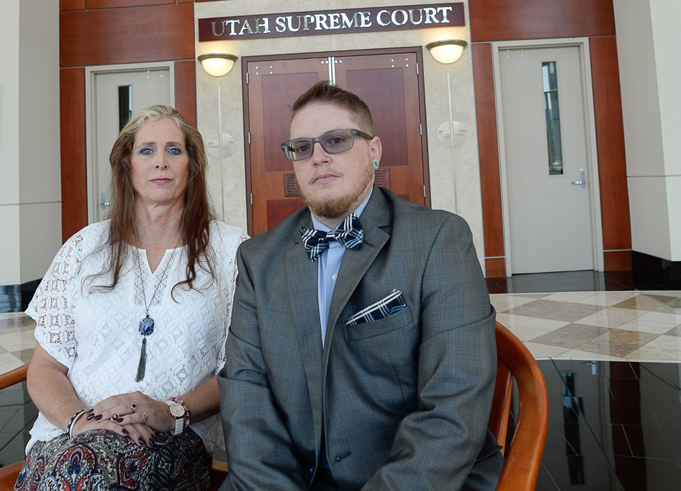 (Francisco Kjolseth | Tribune file photo) Two transgender Utahns, who have been denied a legal sex designation by a state judge, are challenging the ruling by asking the Utah Supreme Court to overturn the decision. Angie Rice and Sean Childers-Gray, pictured, June 30, 2017, hope the justices overrule the district court and grants their petitions. More than two years later, they're still waiting.
