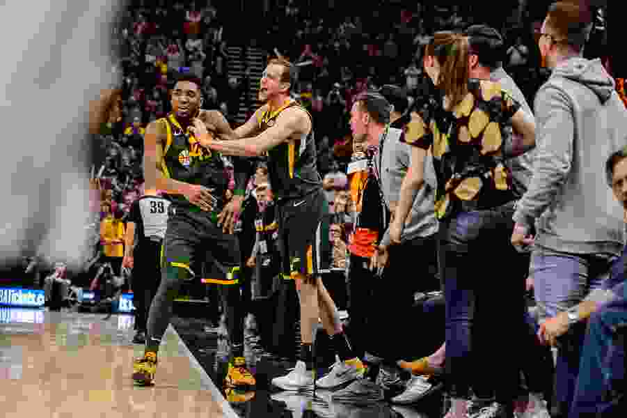 The Triple Team: Andy Larsen's analysis of Donovan Mitchell's fantastic game on both sides of the ball, even getting the crowd involved to force a critical turnover late