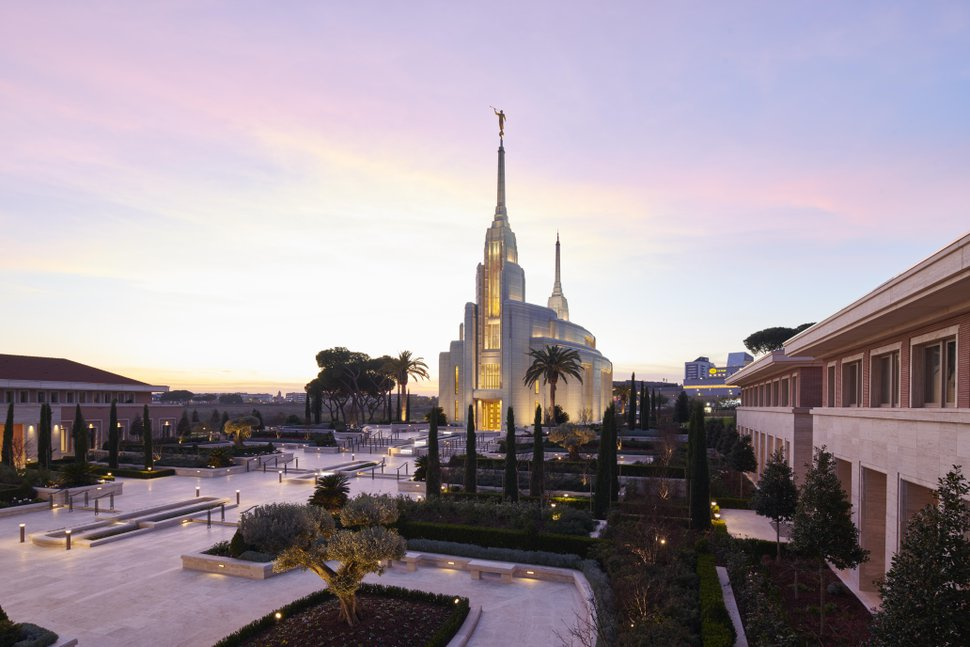 (Photo courtesy of The Church of Jesus Christ of Latter-day Saints) The Rome Italy Temple of The Church of Jesus Christ of Latter-day Saints.