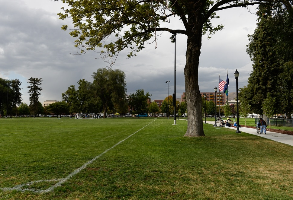 (Francisco Kjolseth | The Salt Lake Tribune) A new multi-purpose field and a surrounding walking path at Pioneer Park are among other improvements debuted as Salt Lake CityÕs Parks and Public Lands Division invites the public to attend a jubilee in celebration of the recently completed improvements on Tuesday, September 10, 2019.
