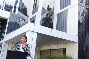 (Leah Hogsten   The Salt Lake Tribune) Salt Lake City Mayor Erin Mendenhall announces Sept. 21, 2021, that there is $8 million in funding available for the development of affordable housing in the city.