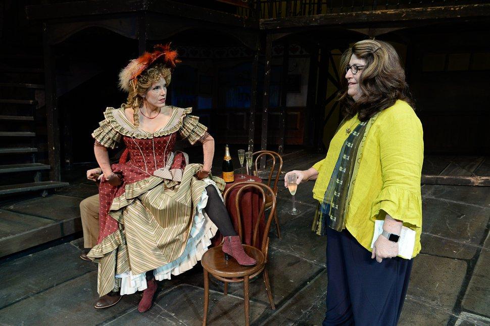 (Francisco Kjolseth | The Salt Lake Tribune) Director Kathleen Clawson, right, sets up scenes for set photos as Utah Opera's season opener,