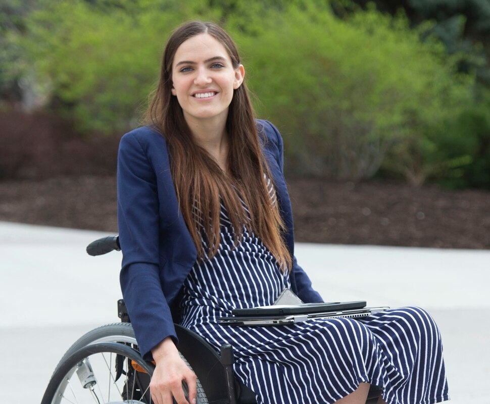 (Rick Egan | The Salt Lake Tribune) Kendra Muller is leading a group that's challenging how BYU accommodates students with disabilities. Wednesday, April 17, 2019.