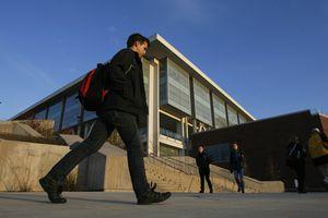Francisco Kjolseth  |  The Salt Lake TribuneStudents file out of the J. Willard Marriott Library on the University of Utah campus in November 2013.
